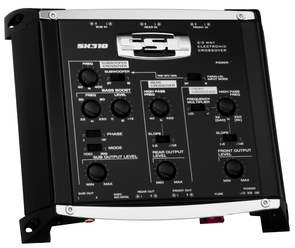 Boss 3 Way electronic Crossover subwoofer input /& output